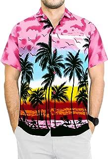 Men's Regular Fit Hawaiian Shirt Beach Aloha Party Camp Shirt Printed