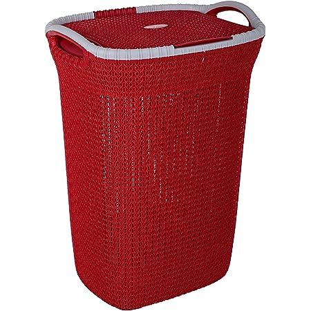 Nayasa Rope Laundry Basket/Laundry Bag - Multipurpose Basket - Plastic Laundry Basket - Small - Maroon