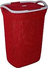 Nayasa Rope Laundry Basket - Multipurpose Basket - Plastic Laundry Basket - Small - Maroon