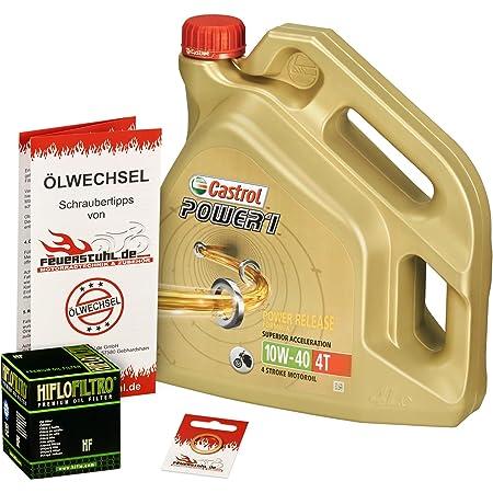 Castrol 10w 40 Öl Hiflo Ölfilter Für Honda Vfr 800 98 01 Rc46 Ölwechselset Inkl Motoröl Filter Dichtring Auto