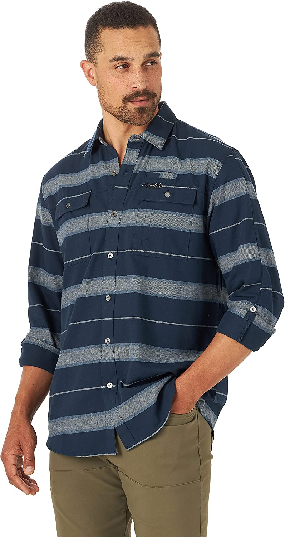 ATG by Wrangler Men's Long Sleeve Eco Utility Flannel Shirt