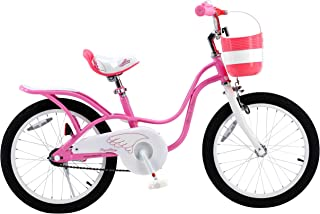 RoyalBaby Little Swan, Girl's Bike with Basket, Pink & White