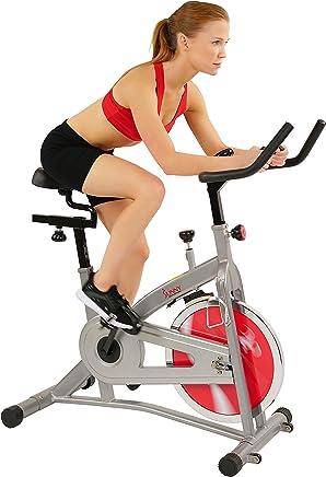 Sunny Health & Fitness Bicicleta de Ejercicios de Ciclismo de Interior de Cadena SF-B1421 con Monitor de LCD