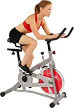 Sunny Health & Fitness Indoor Cycling Stationary Bike with LCD Display, 30 LB Flywheel, 265 Max Weight and Adjustable Felt Resistance - SF-B1421