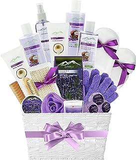 Sponsored Ad - Spa Gift Basket for Women! Top Rated Beauty Gift Basket Spa Basket, Choose Lavender Spa Kit Bed and Bath Bo...