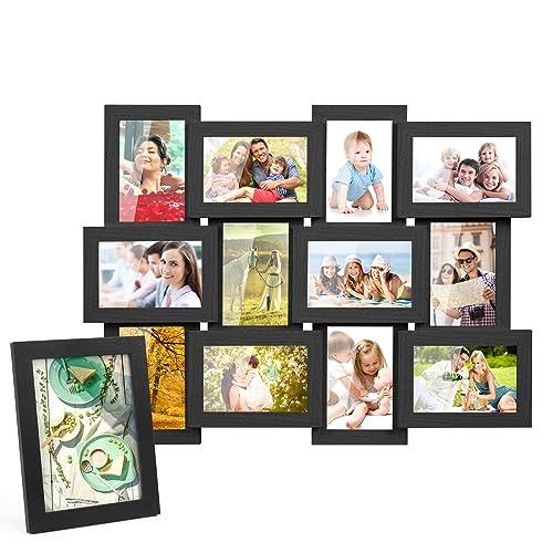 mvpower 13er set fotorahmen bilderrahmen foto collage fur 13 fotos hausdeko 10x15 cm 13x18