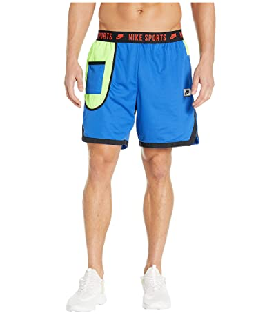Nike Dry Shorts (Game Royal/Electric Green/Habanero Red) Men
