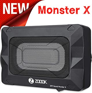 """Zoook Moto69 Monster X 180 Watts RMS or 1800 Watts PMPO Underseat 8"""" x 5"""" Car Subwoofer with Inbuilt Amplifier (Black)"""