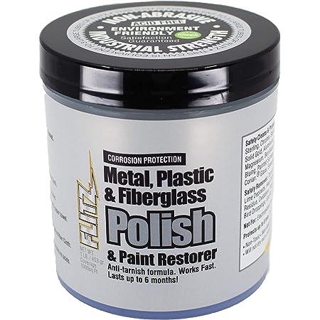 Flitz Blue Metall Kunststoff Und Fiberglas Polierpaste Dose 1 Lb Reiniger Und Politur Für Metalle Kunststoffe Fiberglas Und Feste Oberflächen Auto