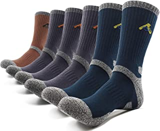 PEACE OF FOOT Hiking Socks boot socks For Mens 6(5+1) Pairs Multi Sports Trekking Climbing Camping working Crew Socks