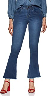 SLVETE Women's Denim Boot Cut Jeans