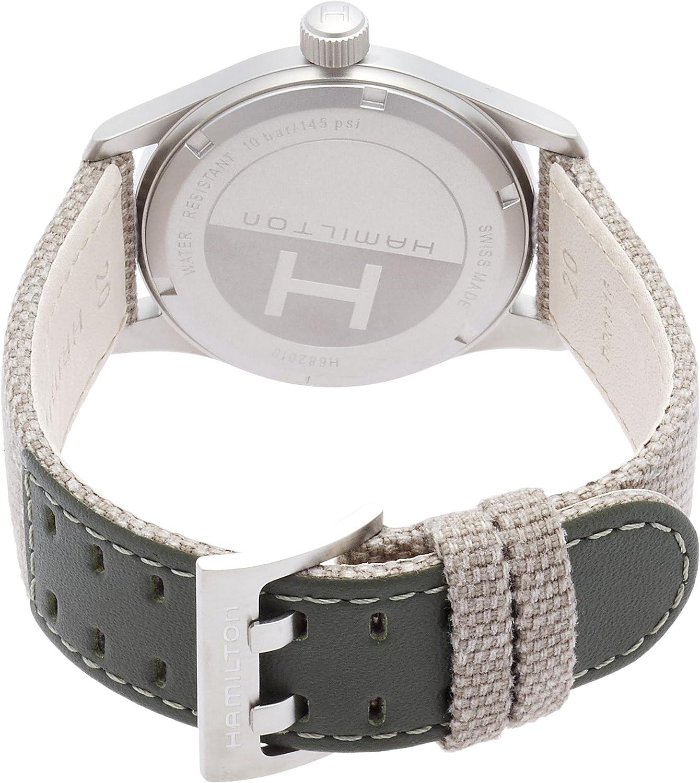 Hamilton Khaki Field Green Dial Nylon Strap Mens Watch H68201963