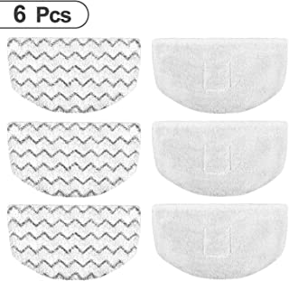 Mr.ZZ 6pk Steam Mop Pads for Bissell Replacement/Washable/Reusable Compatible with Bissell Steam Mop 1940 1440 1544 1806 2075 Series,Model 19402 19404 1940