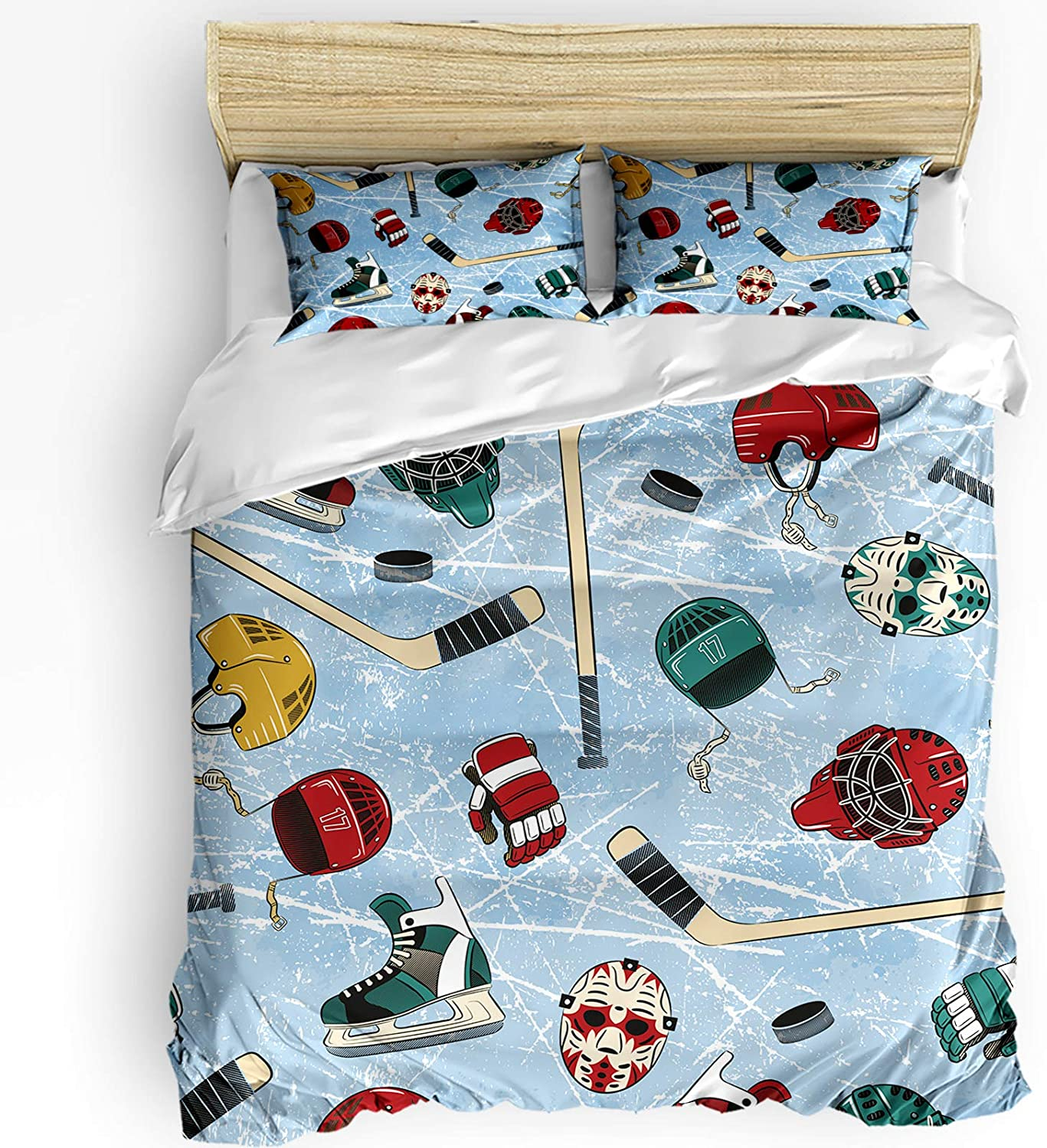 HELLOWINK Duvet Cover 3 Piece Bedding Hoc Fresno Mall Set Cartoon Size Full Recommended