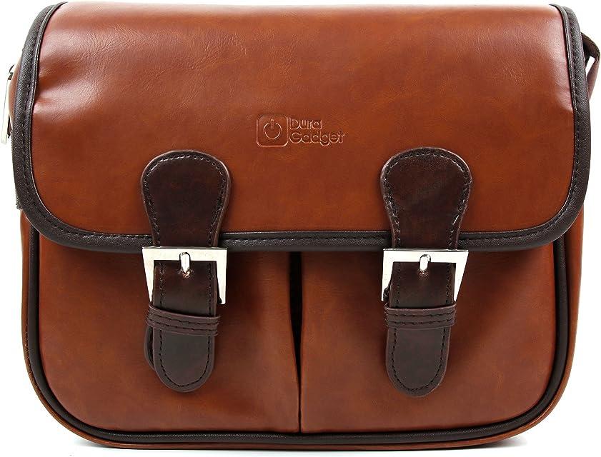 DURAGADGET Bolsa Profesional marrón con Compartimentos para Cámara Polaroid DGT IS529 Sony DSC-RX100 V Canon IXUS 285 HS Inkint 240 Kodak Pixpro AZ251 Panasonic DMC-LX100EGK