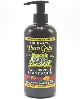 Dr. Earth Organic & Natural Pump & Grow Pure Gold All Purpose Plant Food 16 oz, Black