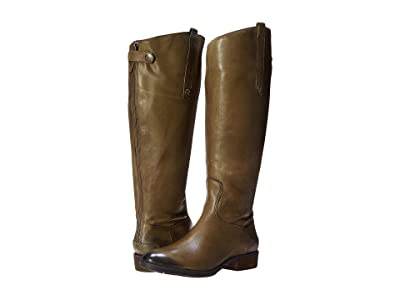 Sam Edelman Penny 2 Wide Calf Leather Riding Boot (Olive) Women