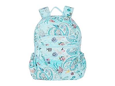 Vera Bradley Campus Backpack (Paisley Wave) Backpack Bags