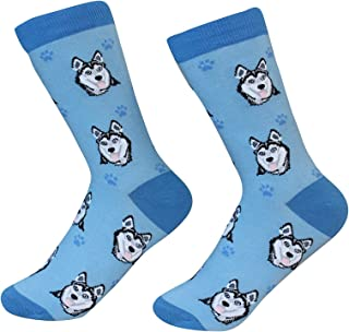Siberian Husky Dog Breed Socks Unisex Sock Daddy by E&S Pets