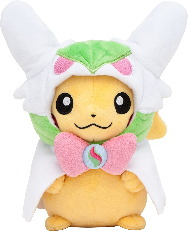 Pokemon Center Original Stuffed Pikachu with Poncho of Mega Gardevoir by