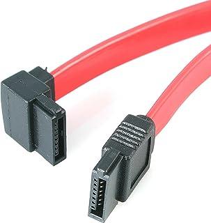 StarTech.com SATA12LA1 12-Inch SATA to Left Angle SATA Serial ATA Cable,Red