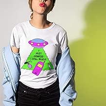 I Must Confess I Still Believe UFO Shirt UFO Shirt Britney Spears Shirt X-Files Shirt Alien Shirt Hit Me Baby Scully Mulder