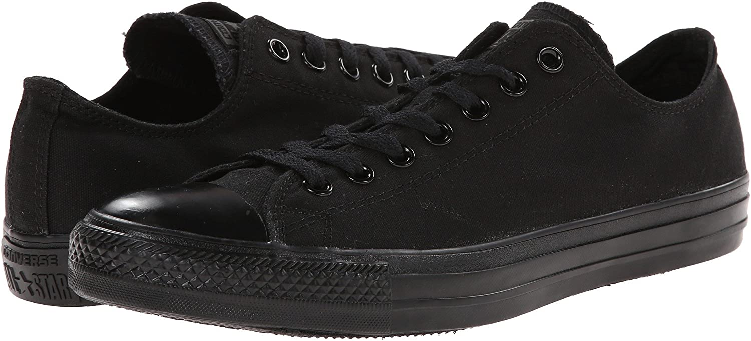 Converse All Star Chuck Taylor Black Mono Ox Low Top Basketball shoes