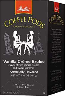 Melitta One 18 Pods (Vanilla Crème Brulee, Pack of 4)