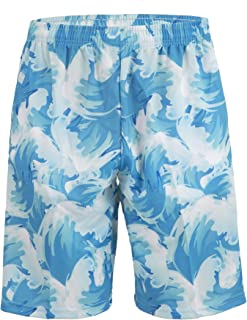 Lacrosse Shorts - Waves, Knee Length with Deep Pockets