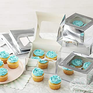 Wilton Silver Cupcake Boxes with Windows, 9-Count