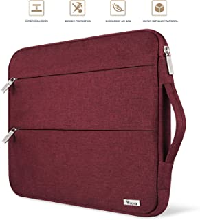"""Voova 13 13.3 Inch Laptop Sleeve Case Compatible with MacBook Air 13.3"""", MacBook Pro (Retina) 13"""", Surface Book 2 / Laptop 13.5"""" Notebook Computer Waterproof Protective Bag Cover with Handle, Red"""