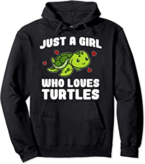 Just A Girl Who Loves Turtles Cute Sea Turtle Costume Pullover Hoodie