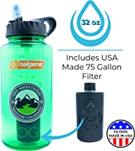 Epic Nalgene OG | Water Filtration Bottle | Wide Mouth 32 oz | American Made Bottle | USA Made Filter Removes 99.99% of Tap Water Contaminants Lead Chlorine Chromium 6 Arsenic Chloroform (Melon Ball)