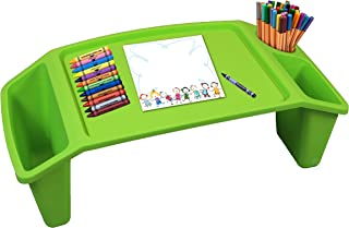 Basicwise QI003253G Kids Lap Desk Tray, Portable Activity Table, Green