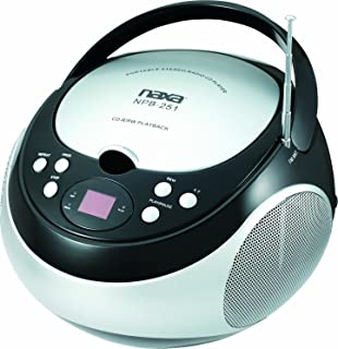 NAXA Electronics NPB-251BK Portable CD Player with AM/FM Stereo Radio,Black