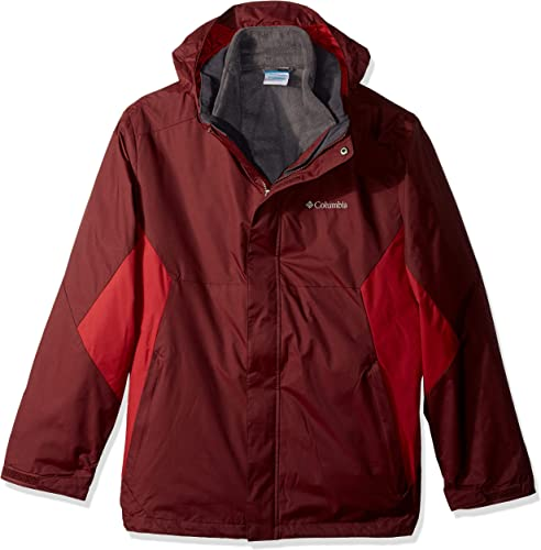 Columbia Hommes's Eager Air Interchange veste, Elderberry, rouge EleHommest, L