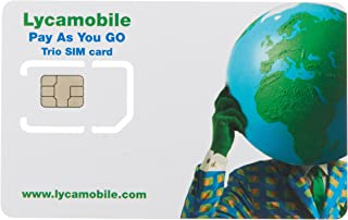 Lycamobile USA Complete SIM Kit - White