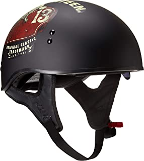 TORC T55 Spec-Op Half Helmet with 'Lucky 13 Tank' Graphic (Flat Black, Small)