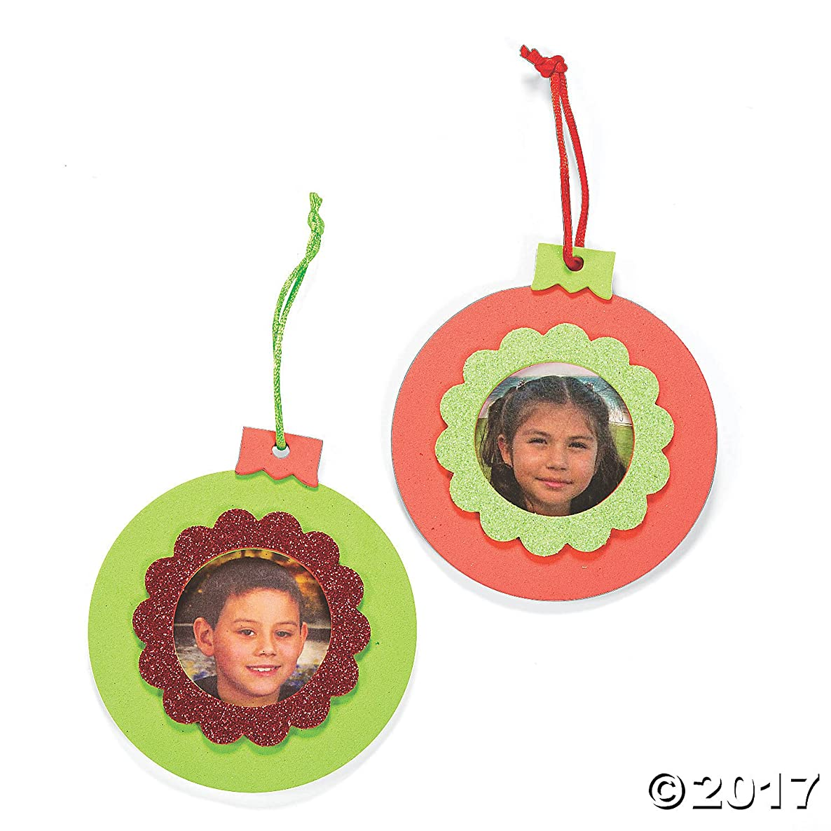 Foam Picture Photo Frame Ornament Craft Kit - Crafts for Kids  Ornament Crafts-makes 12