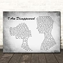 I Am Disappeared Man Lady Couple Grey Song Lyric Quote Wall Art Poster Gift Present Print