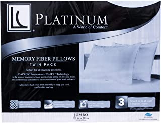 Lc Platinum Memory Fiber 2 Pack Jumbo Pillows