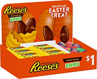 Reese's and CADBURY Chocolate Assortment Candy Easter 1.2 oz. Eggs, 42 Count
