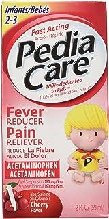 Pediacare Infants (2-3 yrs) Acetaminophen Fever Reducer Pain Releiver, Non Staining Cherry, 2 Fluid Oz