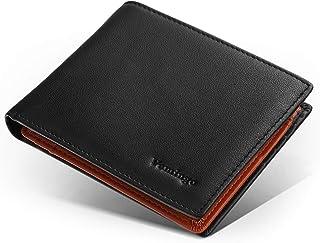 Vemingo Carteras de Hombre Cuero Genuino de Vaca con Bolsillo de Moneda/Monedero con RFID Bloqueo para Tarjetas de Crédito...