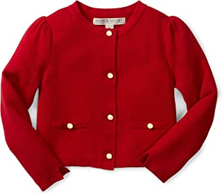 infant red cardigan sweater