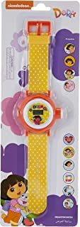 ساعة يد بمينا رقمية للبنات وتصميم شخصية دورا من نيكلوديون مع مصباح صغير لعرض 10 صور - طراز TRHA1979