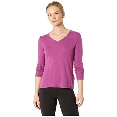 Smartwool Shadow Pine V-Neck Sweater (Meadow Mauve Heather) Women