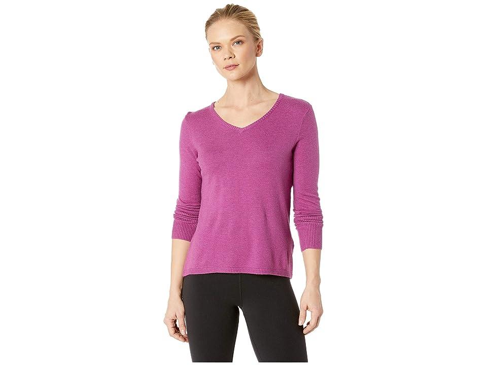 Smartwool Shadow Pine V-Neck Sweater (Meadow Mauve Heather) Women