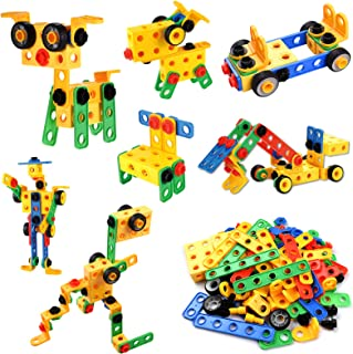 112-Piece Building Block Set DIY Construction Engineering Toy Early Education Intelligence Development Toy for Age 3+ Boys...