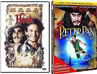 Peter Pan Live Special Edition Musical with Bonus Soundtrack + Hook Robin Williams Fantasy Movie Bundle DVD set